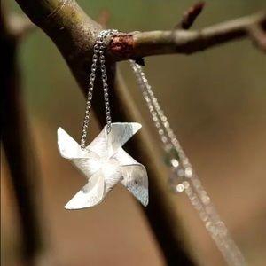 Delicate Pinwheel Necklace